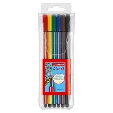 Flamastry STABILO Pen 68 kpl. 6kol. 6806/PL