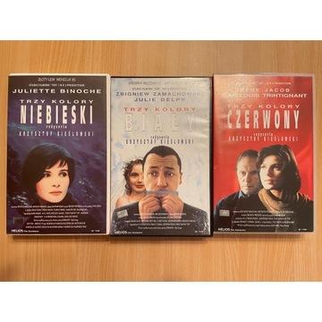 """Kolekcja """"Trzy kolory"""" na kasetach VHS"""