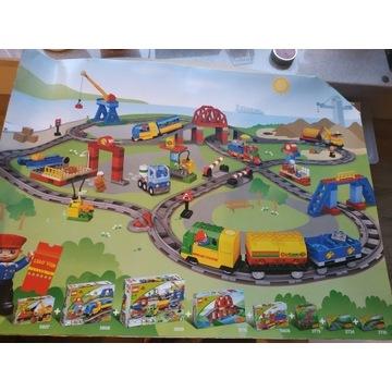 Klocki LEGO DUPLO most, tory, zwrotnice 4 zestawy