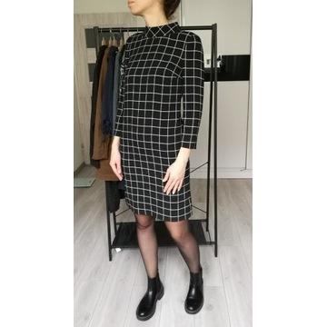 Sukienka biznesowa w kratkę r. 36