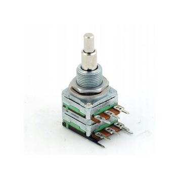 Potencjometr MEC 2x500kOhm audio