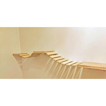 Mostek/drabinka/schodki dla kota małpi gaj/ZESTAW