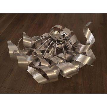 Lampa sufitowa srebrna nowoczesna