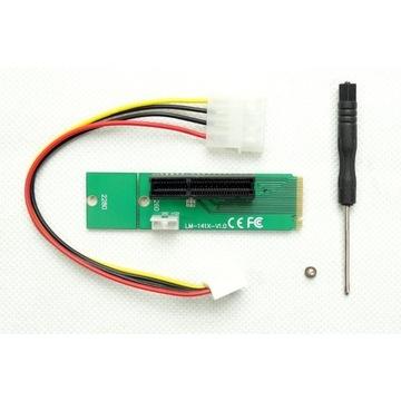 Adapter Riser M.2 NGFF do PCI-E x4 LM-141X-V