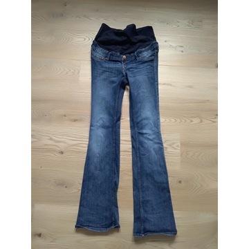 Spodnie ciążowe, S/M, niebieskie, H & M