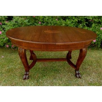 Duży Dębowy Rozkładany Stół