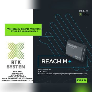 EMLID REACH M+ MODUŁ RTK GNSS UAV