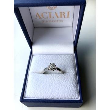 Pierścionek Aclari z diamentem 0,40ct Si1/H
