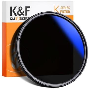 Filtr ND szary zmienny K&F 72mm ND2-400 HMC