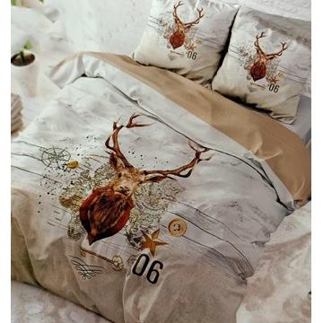 Komplet pościeli bawełnianej Świątecznej 200x220