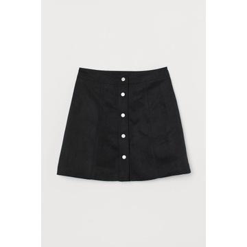Krótka trapezowa spódniczka H&M z wysokim stanem S