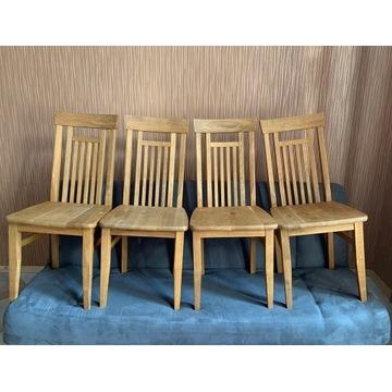 Krzesła z litego drewna 4 sztuki Drewno Eko