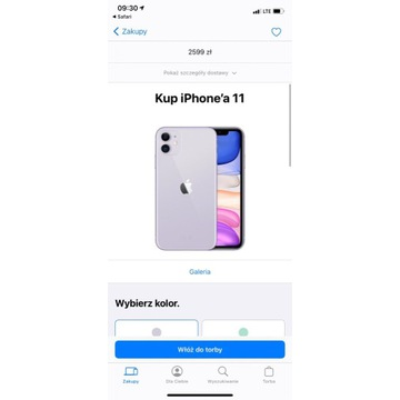 iPhone 11 fioletowy 64GB