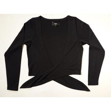 Black Premium czarne wiązane bolerko S