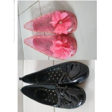 balerinki czarne i różowe w gratisie