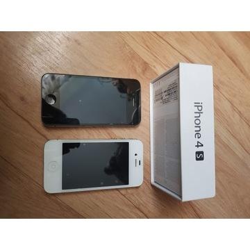 2 Telefon iphon 4s biały i czarny