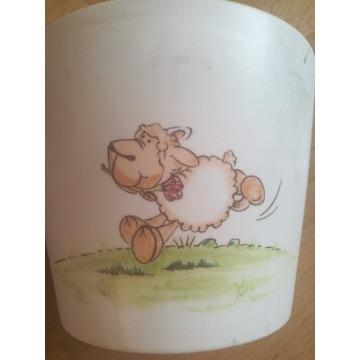 Osłonka ceramiczna na doniczkę z owieczką