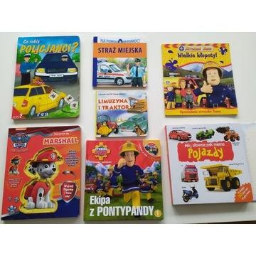 Książki dla chłopca, zestaw Strażak sam,Psi Patrol
