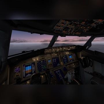 Obserwacja VR kokpitu Boeing 737-800 w x plane 11