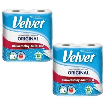 Velvet ręcznik papierowy mocny chłonny 4 rolki