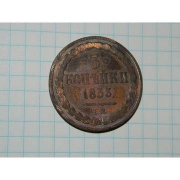 3 kopiejki 1853 r. BM