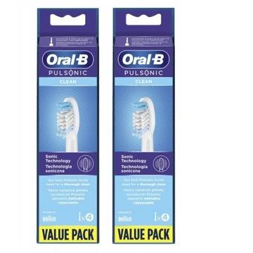 8 SZT ORAL-B PULSONIC CLEAN KOŃCÓWKI ORYGINALNE !!