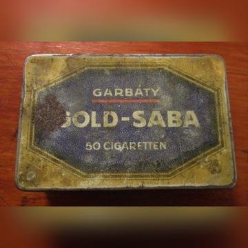 Metalowe pudełko GARBATY GOLD-SABA lata 1910-1920