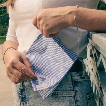 Wielorazowe chusteczki 29x29cm bawełniane handmade