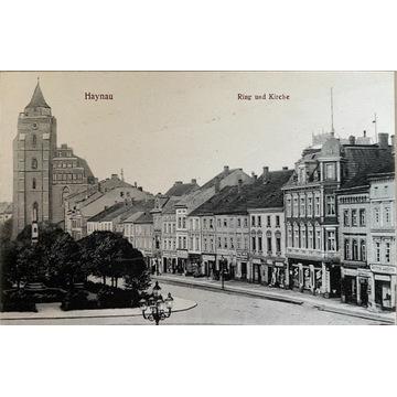 Chojnów, Haynau, Ring und Kirche, Legnica