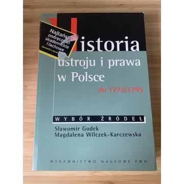 Historia ustroju i prawa do 1772/1795 wybór źródeł