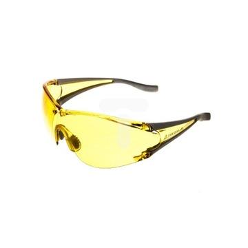 Okulary z poliwęglanu, żółte, drogowe, rowerowe
