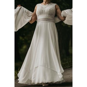 Koronkowa suknia Andrea w kolorze śmietankowym