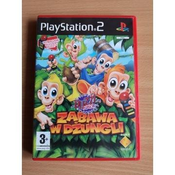 PS2 Buzz! Junior Zabawa w Dżungli Polska Wersja