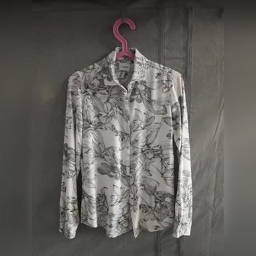 Koszula marki Lambert kwiaty black white