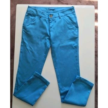 Niebieskie spodnie materiałowe Terranova rozm. XS