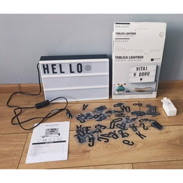 podświetlana tablica Lightbox 90 literek cyferek