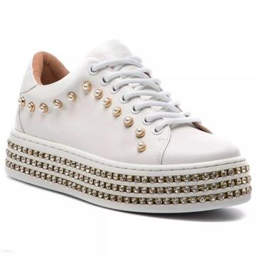 Sneakersy TWINSET koturny Bianco Ottico r.39