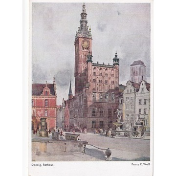 Pocztówka - Gdańsk (Danzig) - Rathaus