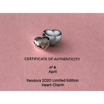 Pandora serce charms limitka na 20-lecie