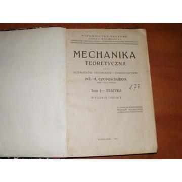 CZOPOWSKI - MECHANIKA TEORETYCZNA STATYKA 1921