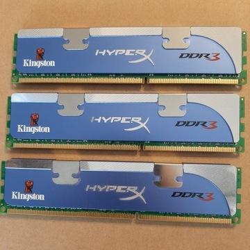 Kingston HyperX 6GB 3x2GB DDR3 1600 MHz CL8 Triple