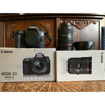 Canon 5D Mark IV + obiektyw EF 24-70 f/2.8L II USM