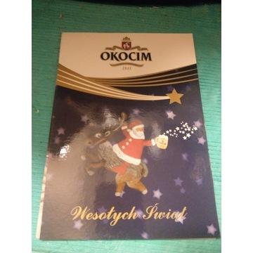 Pocztówka Okocim Świąteczna Wesołych Świąt