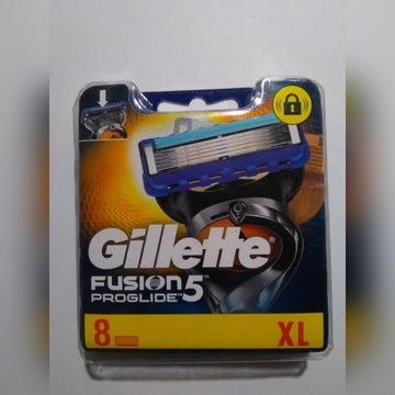 GILLETTE FUSION 5 PROGLIDE  8szt. Niemcy