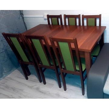 Stół z 6 krzesłami zestaw stan idealny