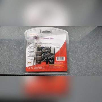 Unitek 2 porty USB 3.0 PCI EXPRESS CARD