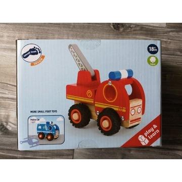 drewniany wóz strażacki montessori