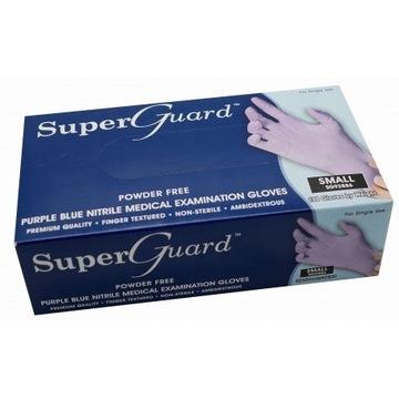 Rękawice nitrylowe SuperGuard rozmiarS 10x100sztuk