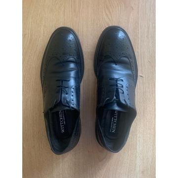 Buty brogsy męskie Wittchen, czarne, rozmiar 41,5