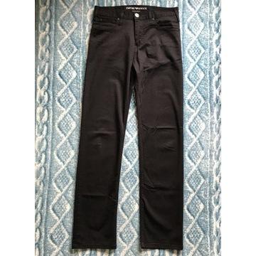 Męskie spodnie Emporio Armani czarne r. 30 (S/M)